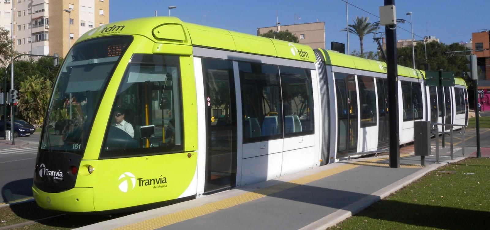 El tranvía por energía solar de Murcia